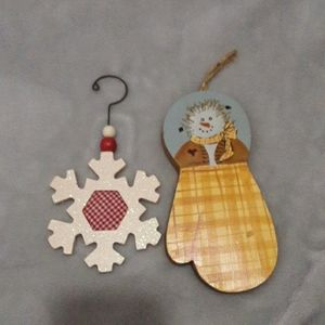 5 for $10 2 winter wooden hanging decorations